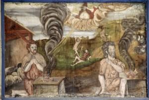 """Tafelbild der Kirchenempore """"Kain und Abel"""" © Oberkirche Arnstadt e.V."""