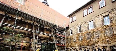 Nach der statischen Sicherung soll der Kreuzgang wieder begehbar werden. Auch der Kreuzhof wird neu gestaltet. © Kerstin Engelmann
