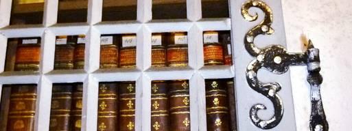 Blick auf alte Bücher der Kirchenbibliothek. Bei Bauarbeiten wurde zudem eine Schulbibliothek aus dem 17. und 18. Jahrhundert gefunden. Foto: Frank Buhlemann