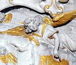 Detail: Am großen Altarbild in der Oberkirche ist auch dieser Engel zu finden. Archiv-Foto: Hans-Peter Stadermann