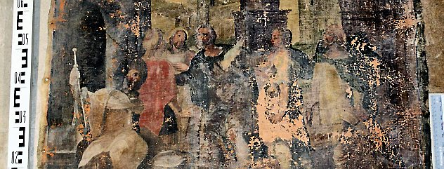 """Das Bild """"Die Werke der Barmherzigkeit - die Fremdlinge beherbergen"""", soll restauriert werden. Foto: Verein Oberkirche"""