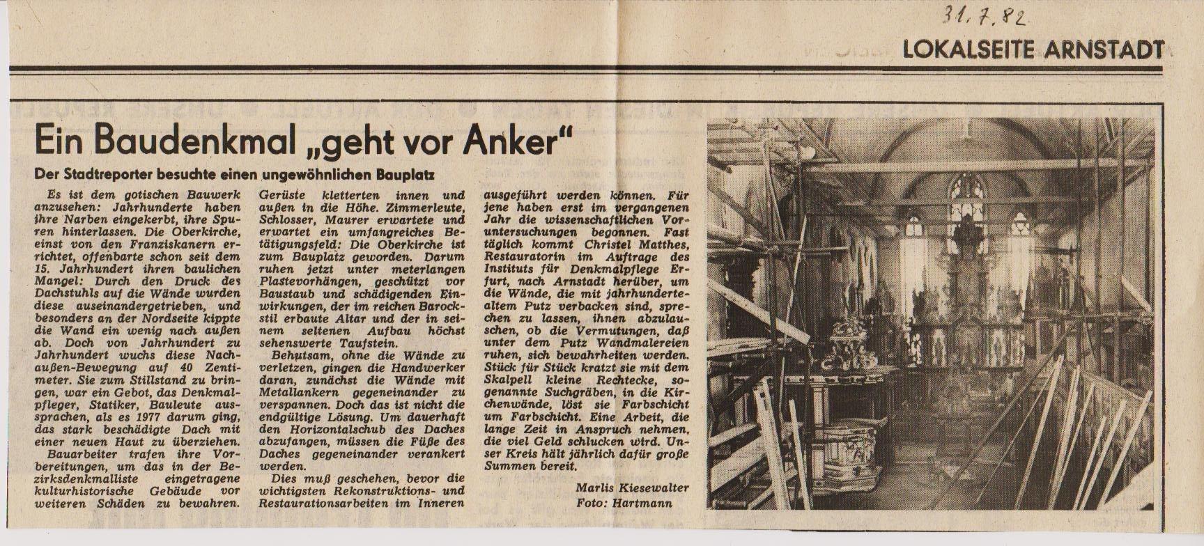 Oberkirche 1982