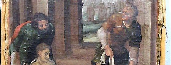 """""""Die Toten begraben"""" ist der Titel dieses Bildes aus dem Adelsstand. Es bezieht sich auf das zweite Kapitel des Buches Tobit. Foto: Repro TA Arnstadt"""