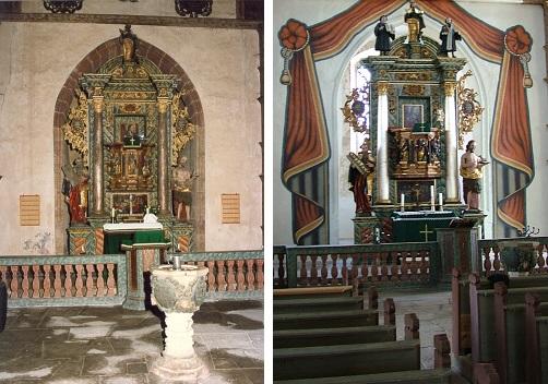 Dorfkirche Helmershausen - Dom der Rhön - Zustand zu Beginn der 1990er Jahre und 2006