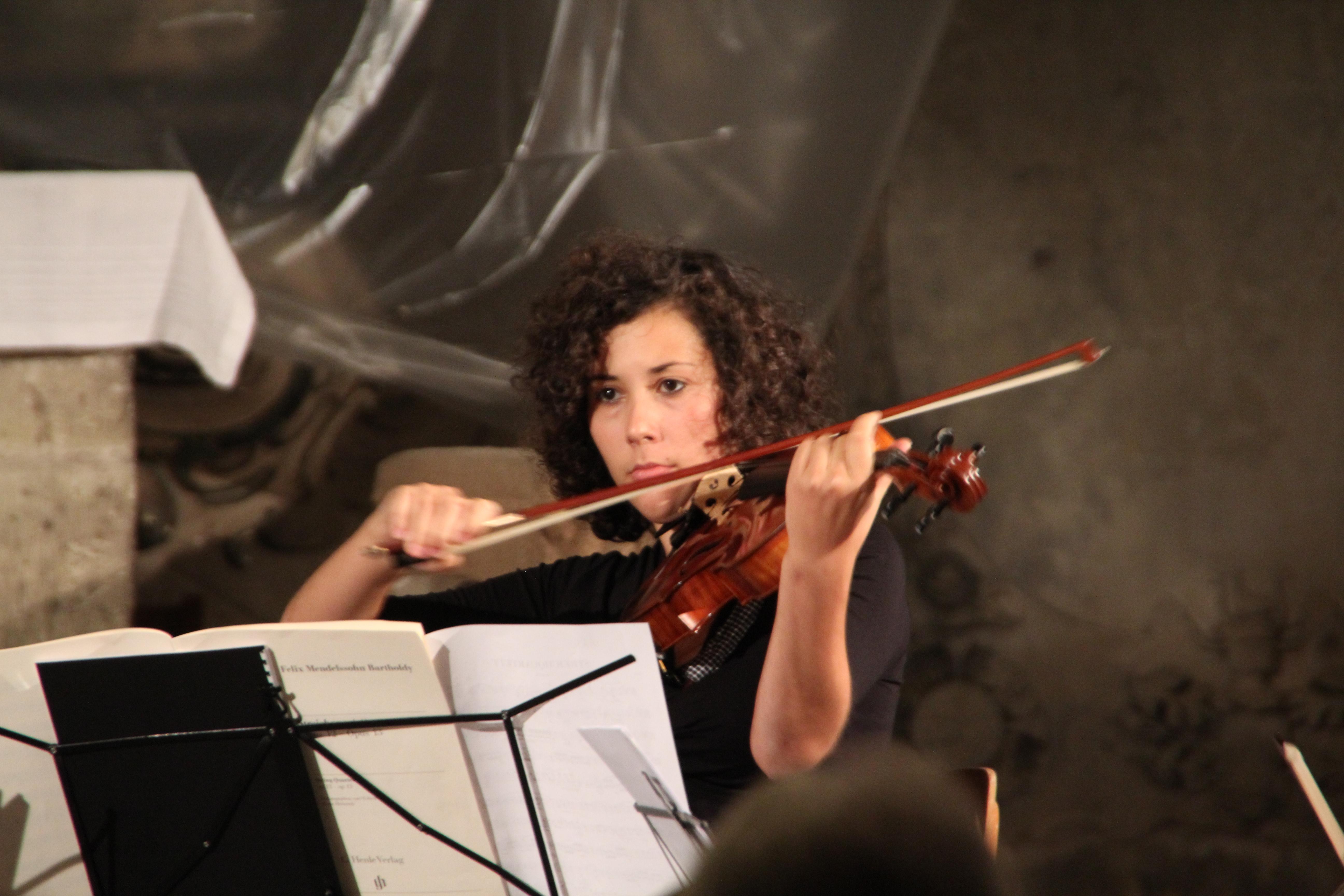 Teilnehmerin der Internationalen Kammermusikwoche 2012 in der Oberkirche, Foto: Oberkirche Arnstadt e.V.