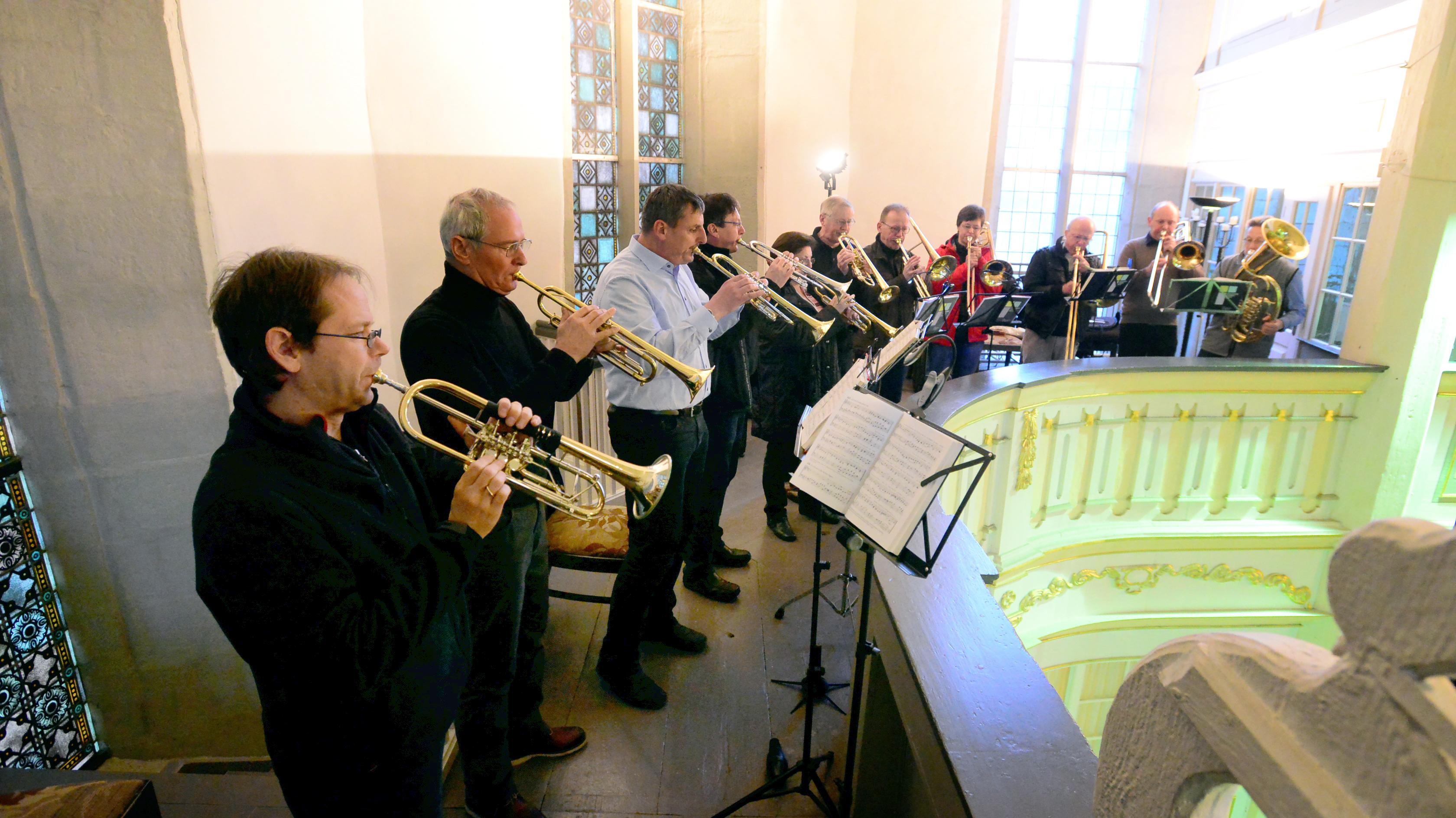 Posaunenchor der evangelischen Kirchengemeinde Arnstadt, Foto: H.-P. Stadermann