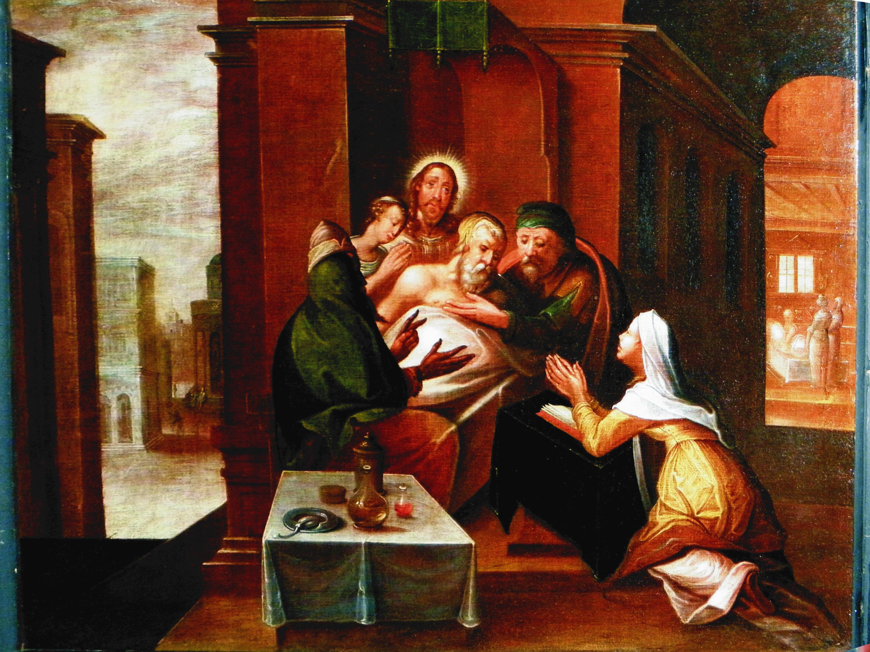 Werke der Barmherzigkeit - Die Kranken besuchen, Foto: Oberkirche Arnstadt e.V.
